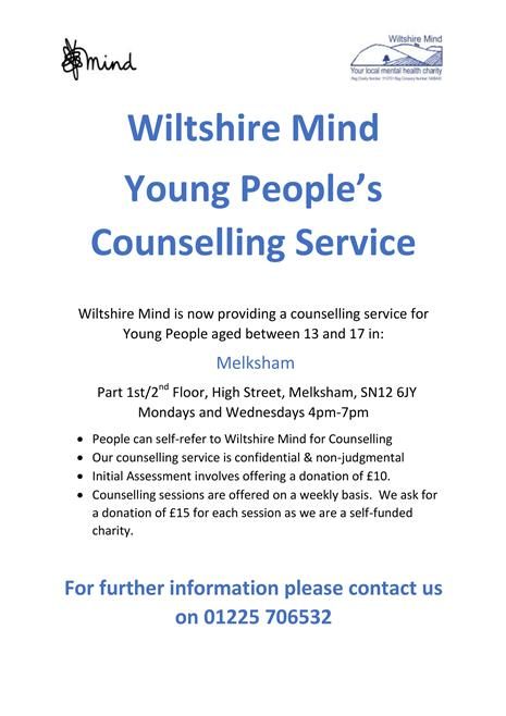 Wiltshire Mind Young People's Counselling Service