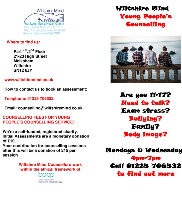 YP Counselling leaflet